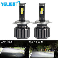 2pcs H4 Led Hi/Lo Light 9003 HB2 Car Headlight COB Led 90W 9000LM 6000K Car Led Headlights Auto Headlamp Bulbs Conversion Kit