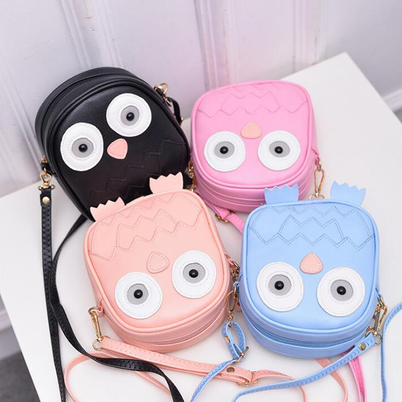 QZH 2017 Summer Kids Girls Messenger Bags Cartoon Mini Cute School Bag Children Handbag Girl Shoulder Bag Women Crossbody Bags