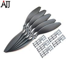 Rctimer-hélice de mosca lenta con adaptadores de eje, accesorios para aviones de control remoto, 9 ''x 6, 9x3,8'', 8x6 '', 8x3,8'', 9060, 9038, 8038, 8060, 5 uds.