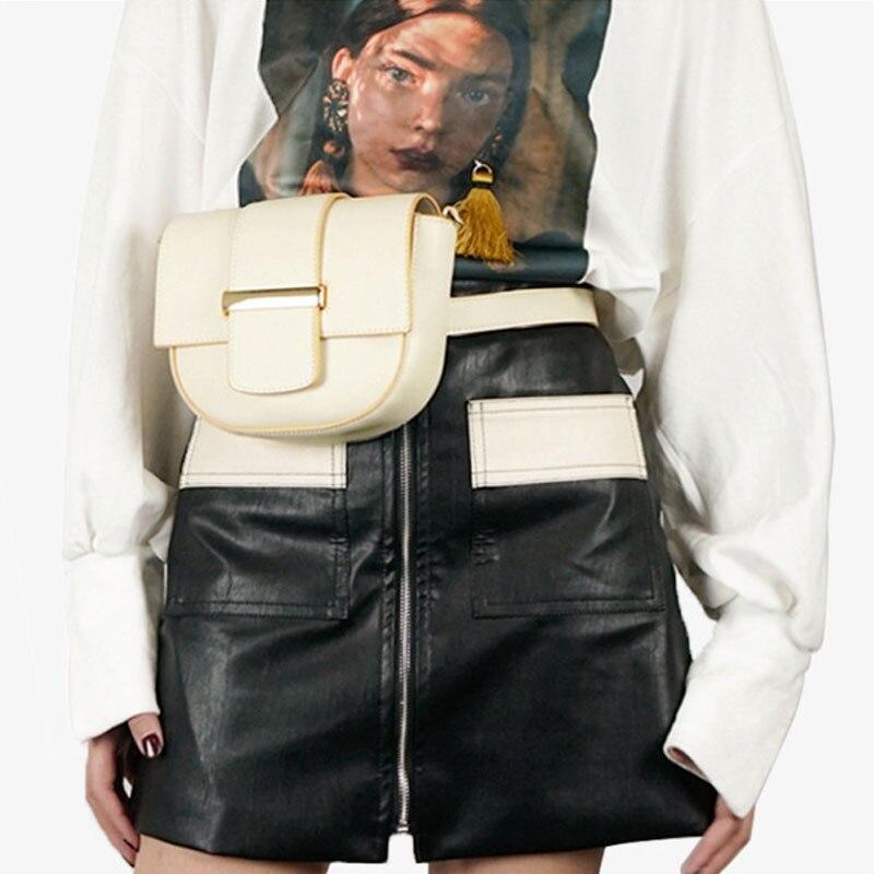 Haute Designer PU En Cuir Selle Sacs pour Femmes 2018 Élégant Bandoulière Taille Sacs Multi Fonction D'hiver Mini Sacs à Bandoulière