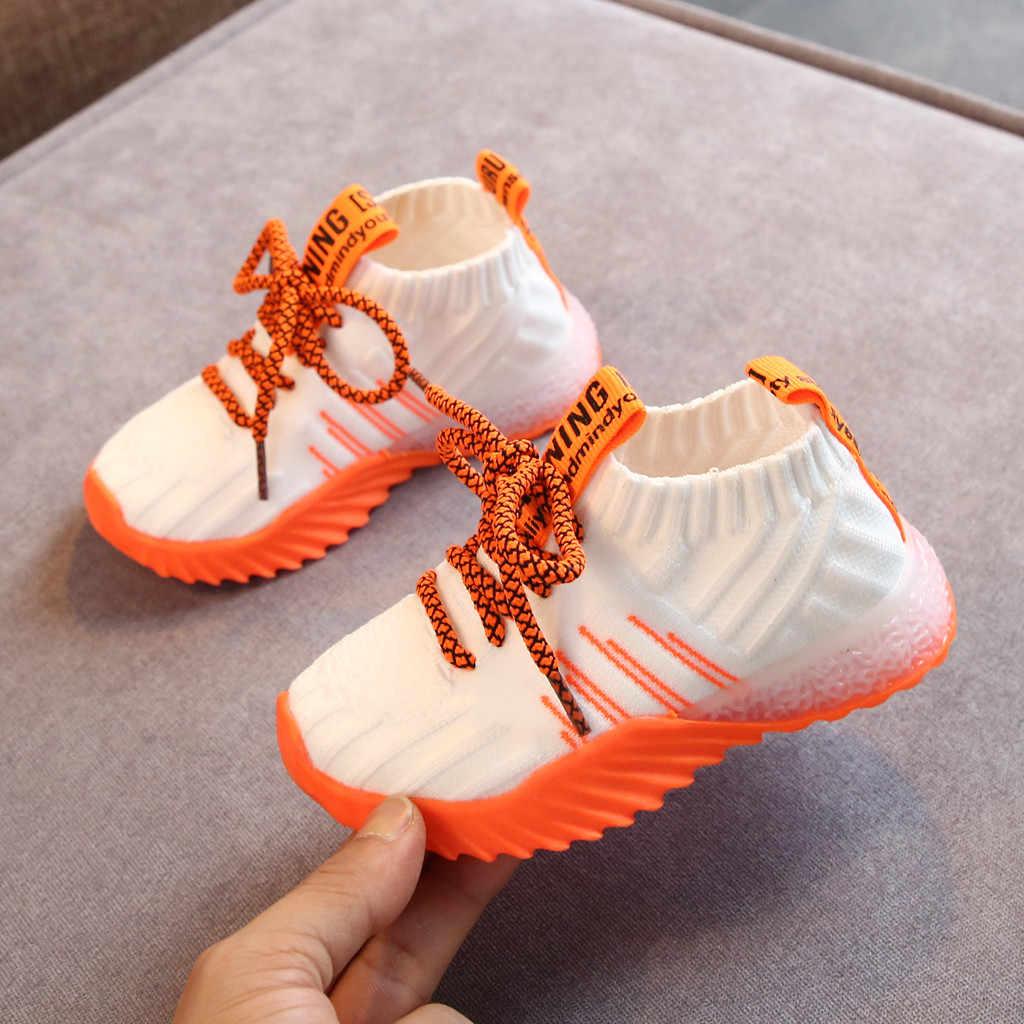 เด็กวัยหัดเดินเด็กรองเท้าสำหรับสาวเด็กผู้หญิงรองเท้าผ้าใบแฟชั่น Sport Light Led รองเท้าเด็ก Trainers
