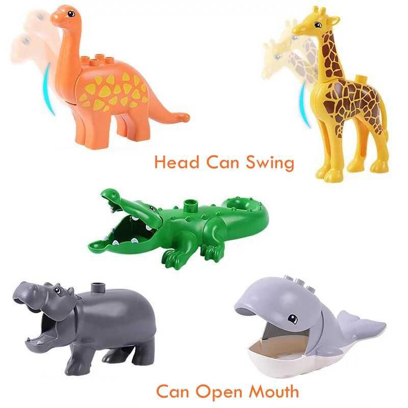 シングル販売デュプロ動物シリーズモデルフィギュアビッグビルディングブロックレンガと互換性動物教育キッズギフト