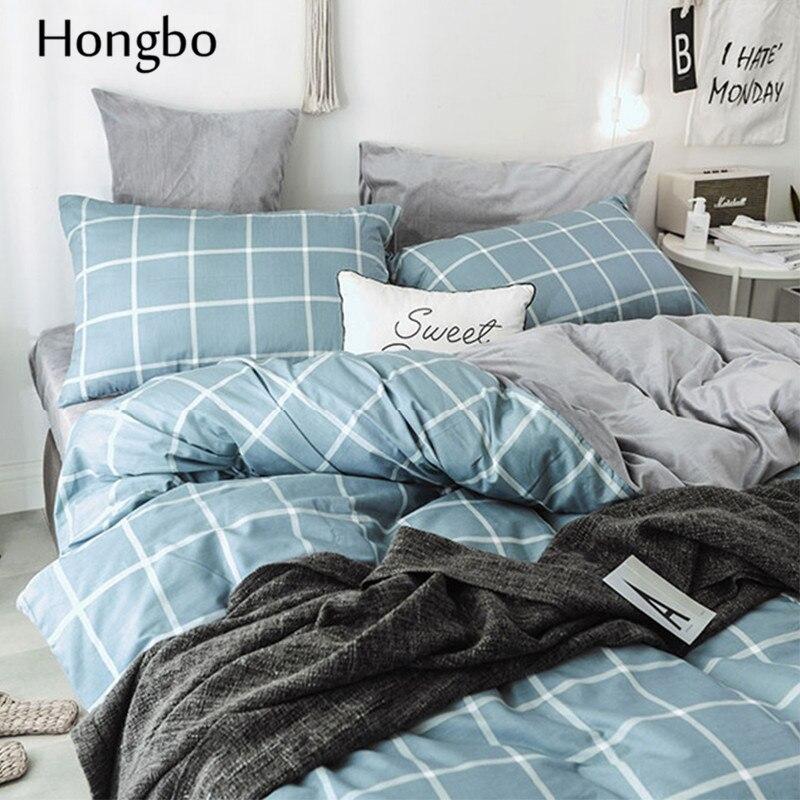 Hongbo Winter Warme Grid Muster Duvet Abdeckung Quilt Kristall Flanell Geometrische Gitter Gedruckt Baumwolle Bettbezug House - 3