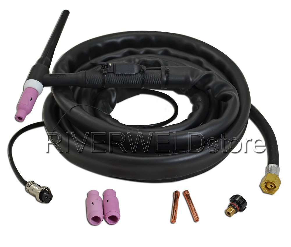 WP17-12 TIG Welding Torch Complete Gas Cooled WP-17 ( SR-17 ) 4M 12Feet 150a wp 17 wp 17 tig torch complete package 4m 12feet pta db 17 with m16x1 5mm connection