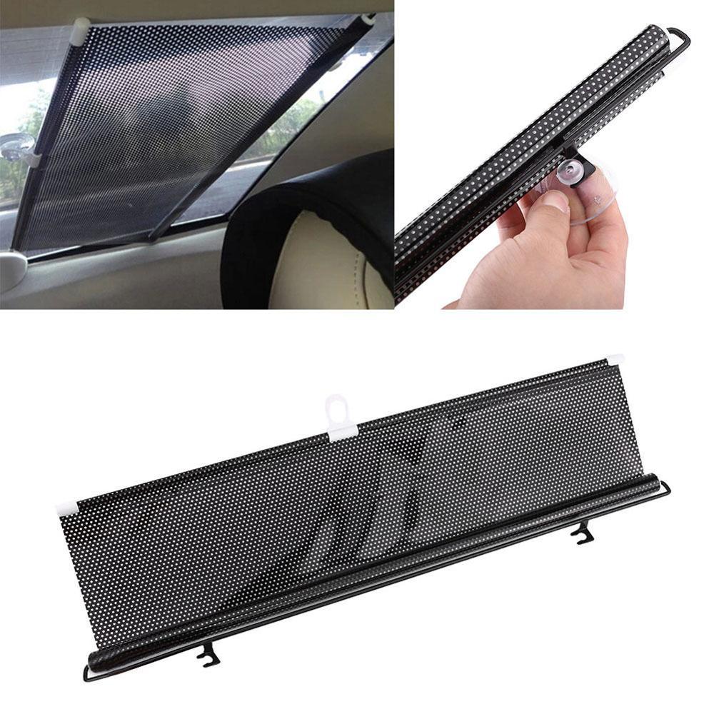 Universal Retractable Car Auto Vehicle Curtain Side Rear Window Roller Sun Shade Sunscreen Visor Blind Windshield Protector Film