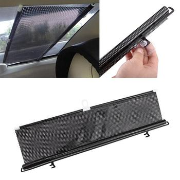 Universal Retractable Car Auto Vehicle Curtain Side Rear Window Roller Sun Shade Sunscreen Visor Blind Windshield Protector Film image