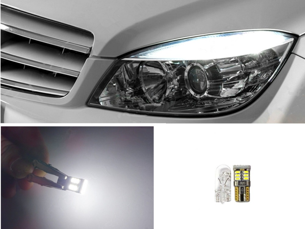 4x 6000K Xenon White LED Lights CANbus Error Free W204 City Eyebrow Eyelid # 4xX7