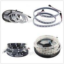 WS2811 5050 RGB LED Strip 5M 150 300 Leds Individual Addressable DC12V White/Black PCB, 2811 led strip Digital