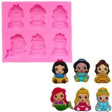 Mermaid Princess Cake Tools for Fondant Silicone Molds Decorating Decoration Ferramenta Decor Dessert SK067636