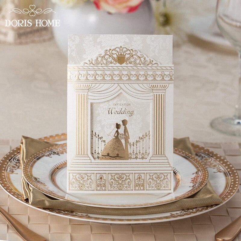 tarjetas de invitacin de boda de la manera marco de oro frustrar de boda