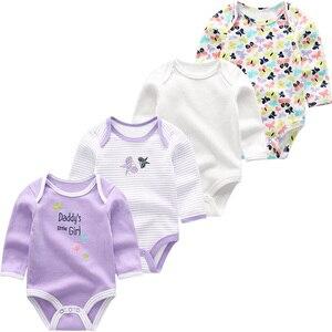 Image 4 - 新生児服ロンパース幼児衣装男の子服長袖綿3 12m幼児パジャマropaデベベ