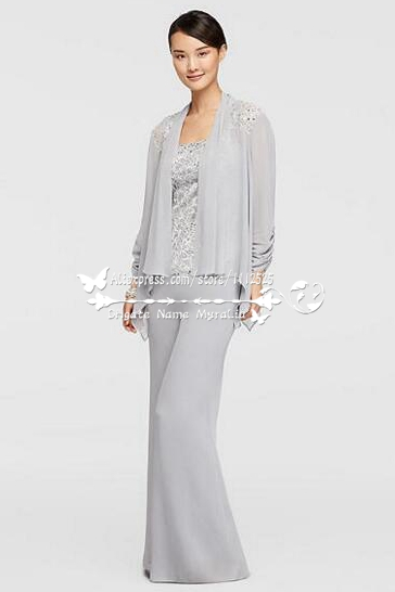 Amp 1232 Mother Of The Bride Pant Suits Three Piece Silver