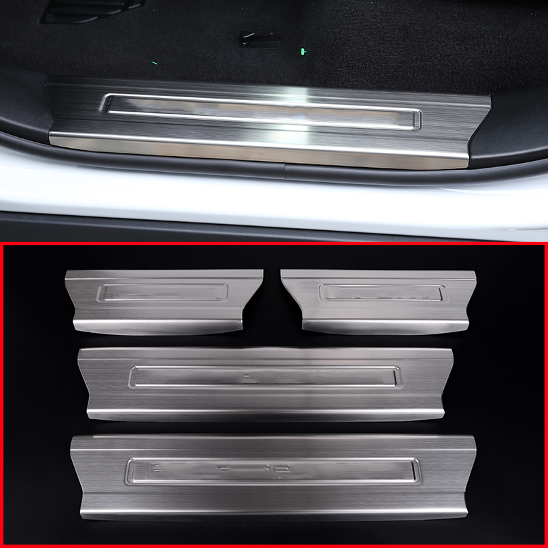 Stainless Steel Interior Door Sill Scuff Plate For Land Rover Range Rover Sport 2014 2016 Auto