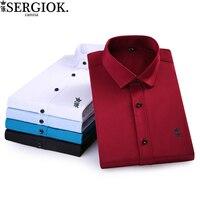 dudalina men's shirt long sleeve men's shirt sergio k camisa brasil male social camiseta Casual business blusas men's clothing