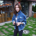 2017 Spring Jeans Jacket Women top fashion retro finishing Boyfriend Style big Coat jaqueta feminina oversized denim jacket