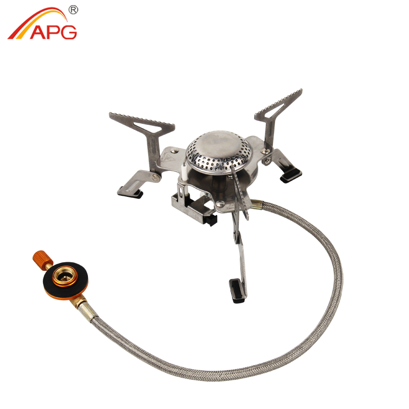 APG Outdoor Camping Gas Stove Portable Folding Survival Furnace Picnic Cooking Gas Burners Cooker