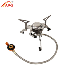 APG Outdoor Camping Gas Stove Portable Folding Survival Furnace Picnic Cooking Gas Burners Cooker цена 2017