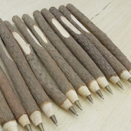 1pcs/lot Vintage handmade wooden Environmental ballpoint pen   twig wood ball pen   Zakka wedding pen school office supplies