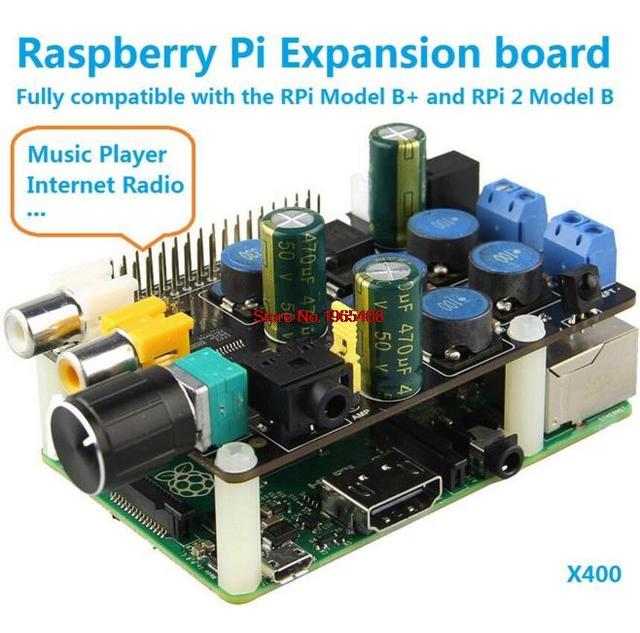 Envío Libre!!! X400 Tarjeta de Expansión para Raspberry Pi 2 Modelo B Raspberry Pi B +/Raspberry pi Reproductor de Música