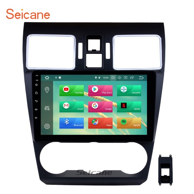 """Seicane 8 core 9"""" 2 Din Android 8.0 Car Radio Bluetooth GPS Navi for 2014 2015 2016 Subaru WRX forester support DVR DAB TPMS OBD"""