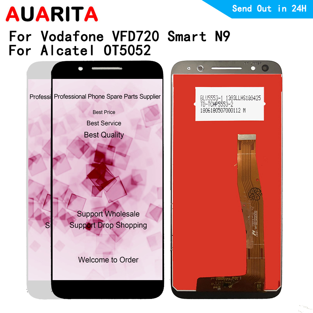For Alcatel 3 OT5052 5052D 5052Y For Vodafone VFD720 VFD 720 Smart N9 LTE LCD Display Touch panel Screen front glass AssemblyFor Alcatel 3 OT5052 5052D 5052Y For Vodafone VFD720 VFD 720 Smart N9 LTE LCD Display Touch panel Screen front glass Assembly