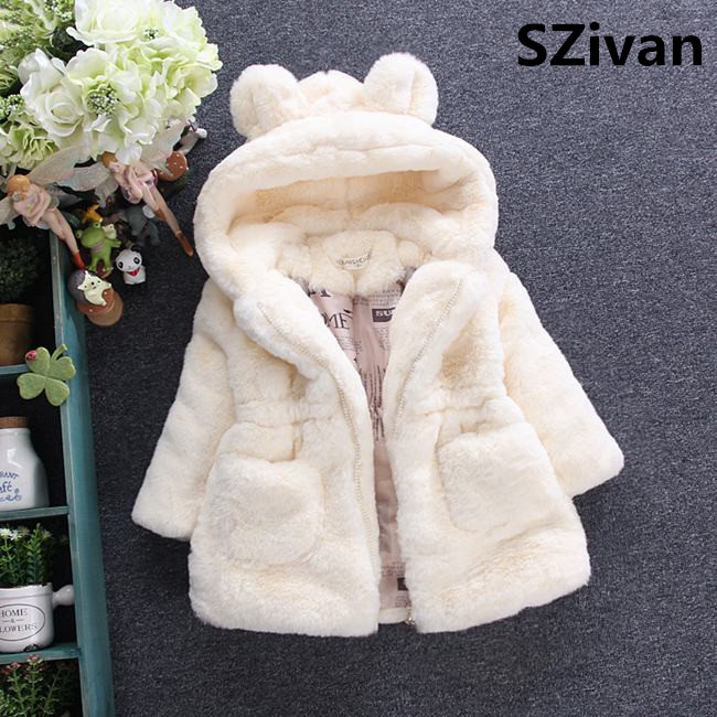 Faux fur coat and Jackets for girls Winter Kids Jackets And Coats Waterfall Baby Girls Faux Fur Coat Children Warm Outerwear