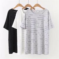 oversized Plus Size XXXL Cotton Women T Shirt Summer Drop Shoulder Short Sleeve Tee Shirt Top Soft High Quality Ladies t shirt