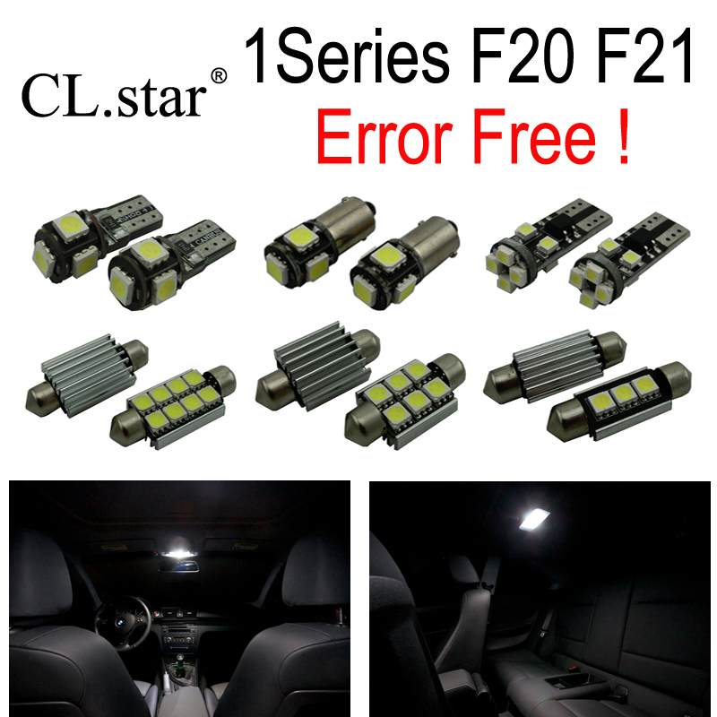 10pcs error free LED Interior dome + Reverse Light Kit for BMW 1 series F20 F21 116i 118i 120i 120d 125d 125i M135i (12-14) cn360 2pcs extremely bright canbus error free 31mm 36mm 39mm 41mm festoon dome c5w car led light bulb