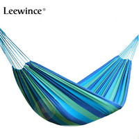 WFGOGO 190 100CM Hammock Portable Camping Garden Beach Travel Hammock Outdoor Ultralight Colorful Cotton Polyester Swing