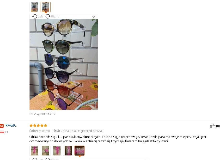 Mode Zonnebril Brillen Plastic Frame Display Stands Plank Brillen - Home opslag en organisatie - Foto 5