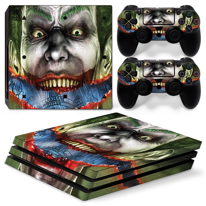 The Joker Smile Clown Prince of Crime Skin Sticker Cover Decal For PlayStation 4 PRO PS4 PRO Console+2Pcs Controller Stickers