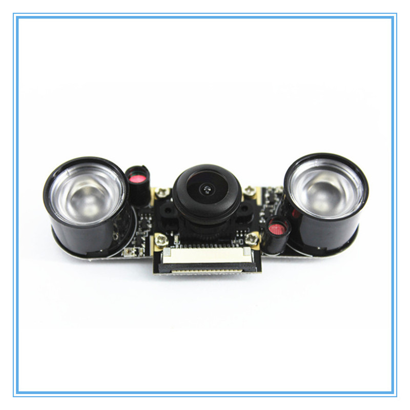Raspberry Pi 3 Model B 5MP Night Vision Camera OV5647 Fisheye Webcam 1080P Wide angle Camera Module for Raspberry Pi 3B 3B 2B in Demo Board Accessories from Computer Office