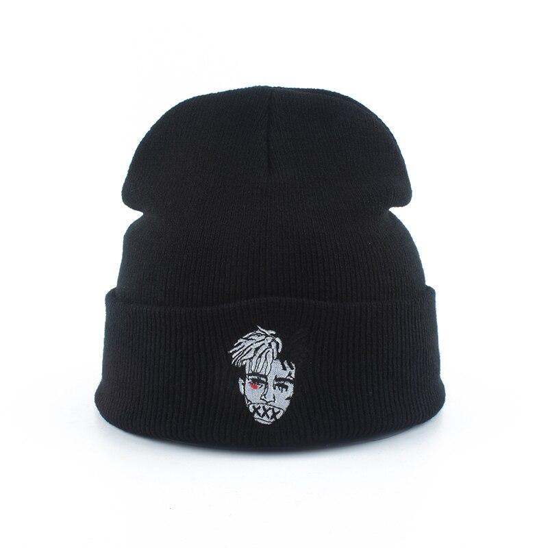 Zombie Embroidery Hip Hop   Beanie   Men Women Knitted Hat Warm Winter Ski Cap Casual Streetwear   Skullies     Beanies