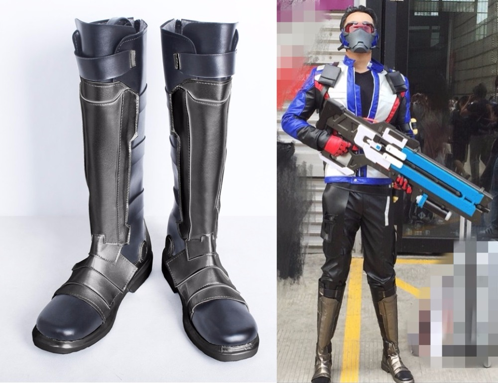 New Game Soldier 76 Cosplay Boots Halloween/Carnival ...