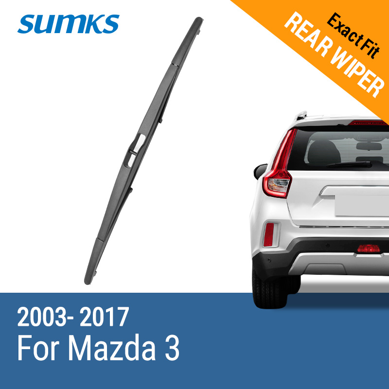 SUMKS Rear Wiper Blade for <font><b>Mazda</b></font> <font><b>3</b></font> 2003 <font><b>2004</b></font> 2005 2006 2007 2008 2009 2010 2011 2012 2013 2014 2015 2016 2017 image