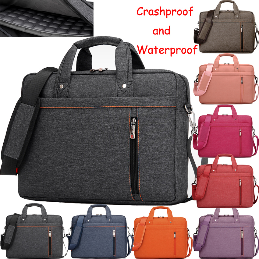 060611ae1e5cb9 [Hot Sale] 12 13 14 15 17 Inch Waterproof Nylon Computer Laptop Notebook  Tablet Bag Bags Case sleeve Messenger Shoulder unisex men women-in Laptop  Bags ...