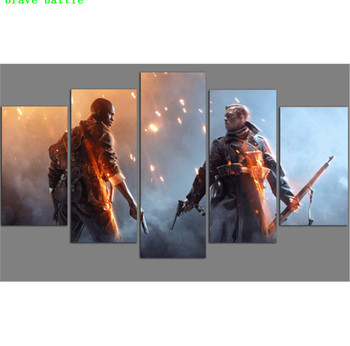 Battlefield Games Star Wars  5 Pieces Canvas Painting Print Living Room Home Decor Modern Wall Art Oil Painting Poster