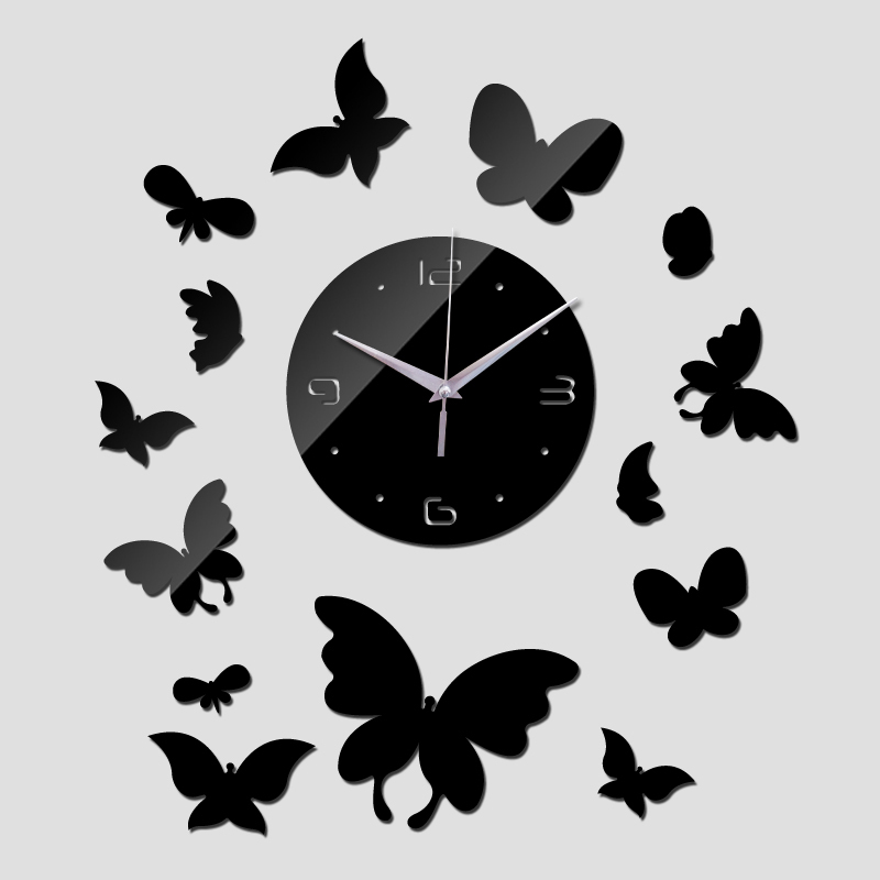 2016 New Home Decoration Clocks Living Room Quartz Acrylic 3d Mirror Wall  Clock Modern Design Diy Watch Sticker Free Shipping In Wall Clocks From  Home ...