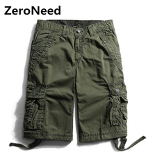 Cargo Shorts Mens 2017 Summer Wear Shorts Masculino Knee Length Casual Plus Size Leisure Outdoors Fashion Brand Short Homme 152
