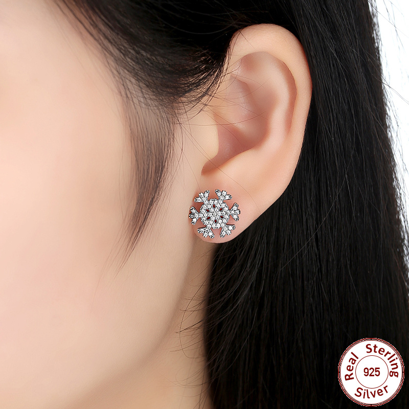 pandora earrings cheap pandora snowflake earrings pandoraoutlet