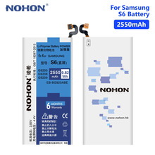NOHON S6  2550mAh Lithium Rechargeable Phone Battery For Samsung Galaxy S6 SM-G9200 G9208 G9209 G920A EB-BG920ABEBatteries все цены