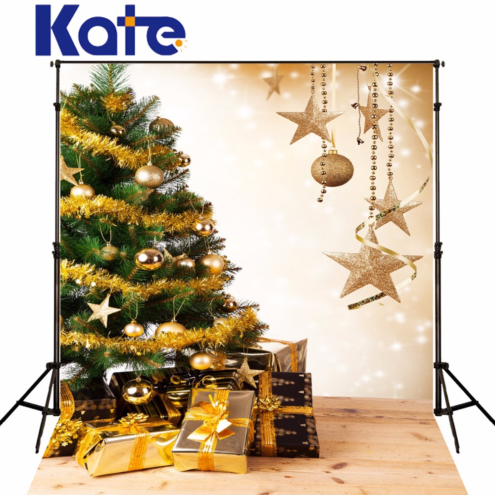Kate Digital Printing Christmas Photography Backdrops Wood Floor Christmas Tree Photo Background For Children Backdrop kate christmas photo background wood wall and wood floor yellow lights for children photography backdrops stage backgrounds