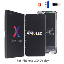 High Quality LCD For iPhone X XS XR Flexible Rigid Hard OLED Soft Screen GX AMOLED Display Replacement with 3D