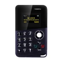 2017 New Arrival Mini Card Phone AEKU M8 Color Screen Card Phone Quad Band Low Radiation Kids Pocket Mobile Phone