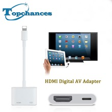 New Lighting to HDMI Lightning AV Adapter HDMI / HDTV TV Digital Cable Adapter For iPhone 5 5s 6 6s 7 7plus for iPad Series