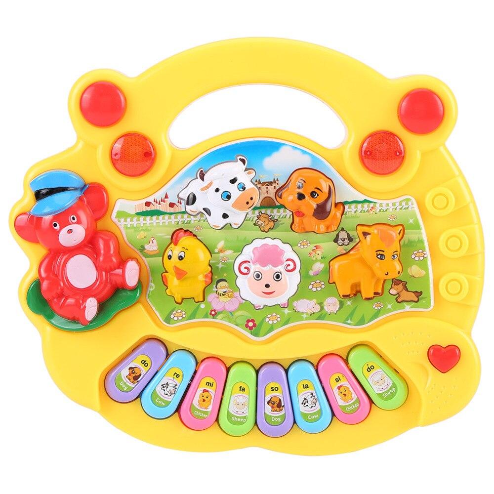 Bébé enfants Musical animaux ferme Piano jouets jouets éducatifs précoces pour enfants cadeau 2 couleurs développement musique jouet
