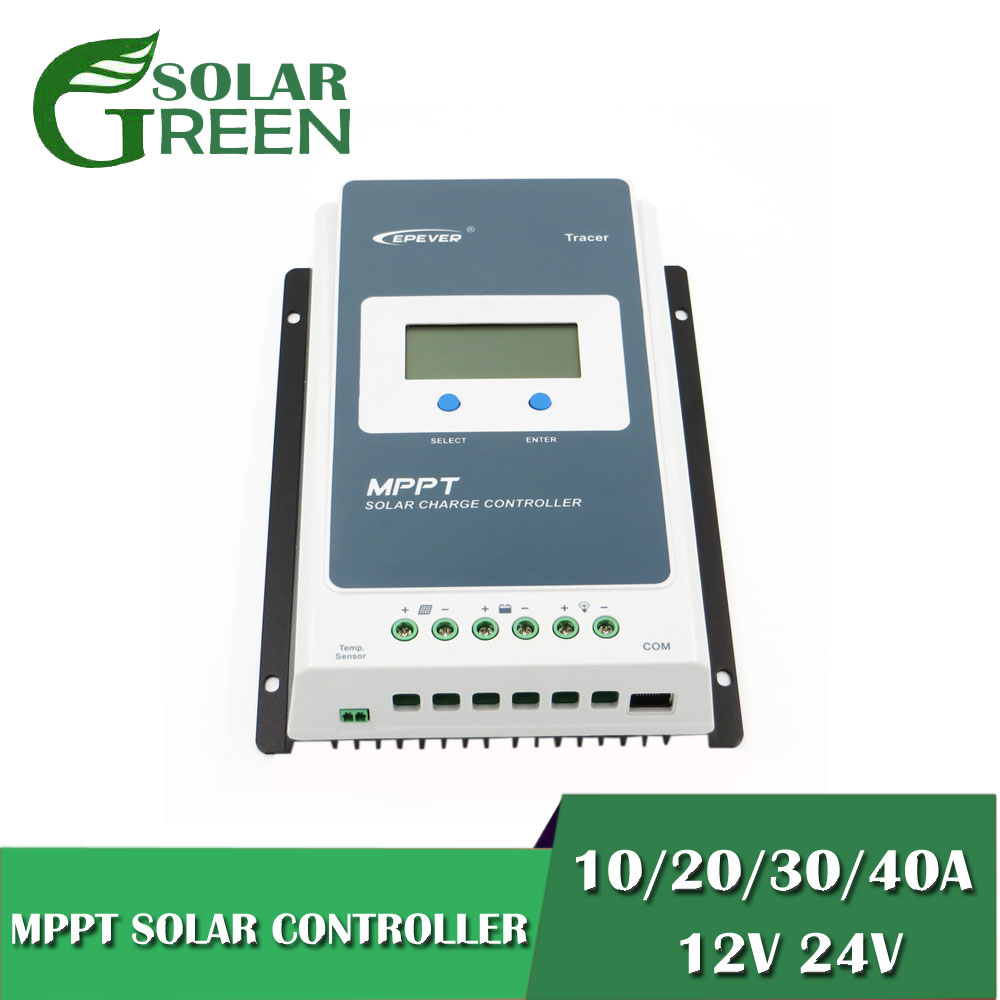 MPPT 40A/30A/20A/10A Solar Charge Controller Back Light LCD Solar Regulator for 12V 24V Lead Acid Lithium ion Batteries