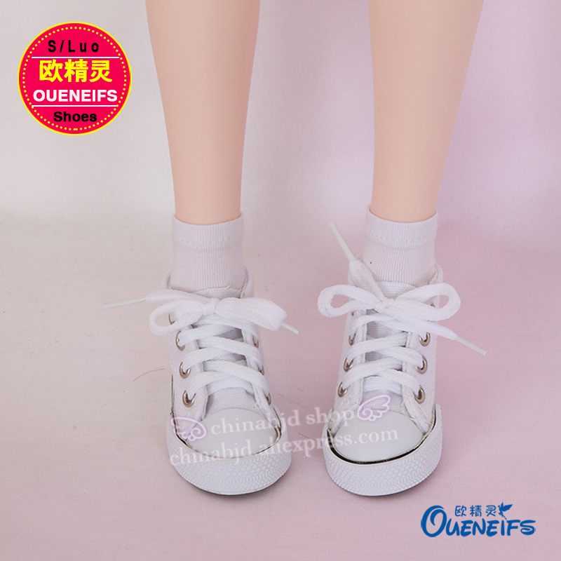 OUENEIFS free shipping Hot Selling 7.5cm Canvas Shoes For BJD Doll Toy Mini Shoes For Boots Doll Accessories 7 Colors WX3-02 uncle 1 3 1 4 1 6 doll accessories for bjd sd bjd eyelashes for doll 1 pair tx 03