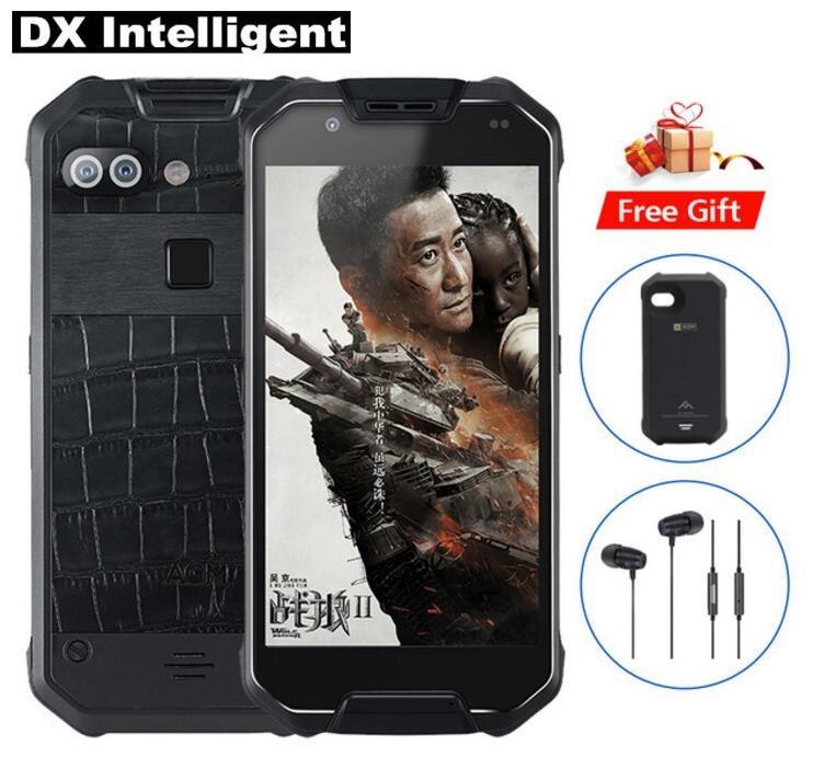 AGM X2 IP68 Étanche Robuste Mobile Téléphone 5.5 Snapdragon 653 MSM8976SG Octa Core 6 gb + 128 gb 16MP + 12MP Double Caméra 6000 mah NFC
