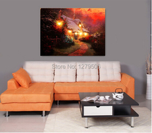 100% Hand-Painted Oil Paintings on Canvas Wall Art Elegant Girl Free Shipping For Home Decor